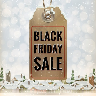 Etiqueta de preço de venda sexta-feira negra.