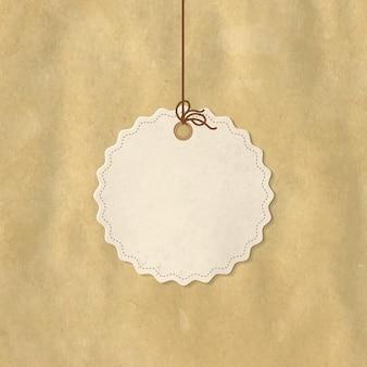 Etiqueta de preço do papel, isolada no fundo branco