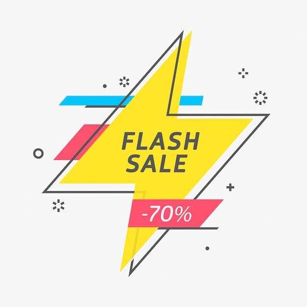 Etiqueta de preço em flash