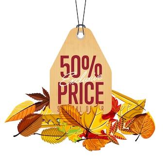 Etiqueta de preço exclusiva, oferta especial,