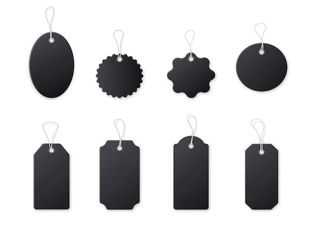 Etiqueta de preço preta