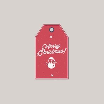 Etiqueta de presente de feliz natal e ano novo.