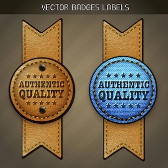 Etiqueta de qualidade autêntica