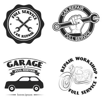 Etiqueta de serviço de carro