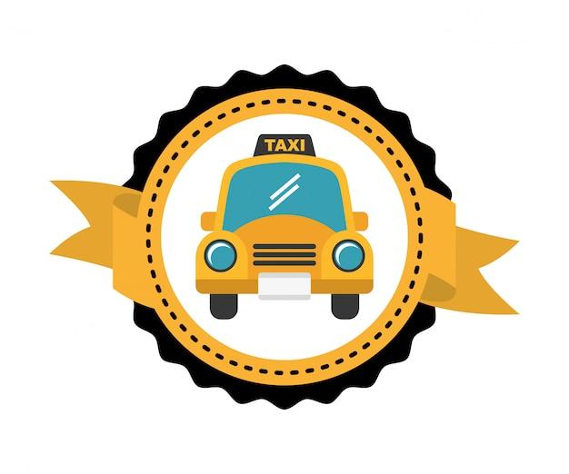 Etiqueta de serviço de táxi