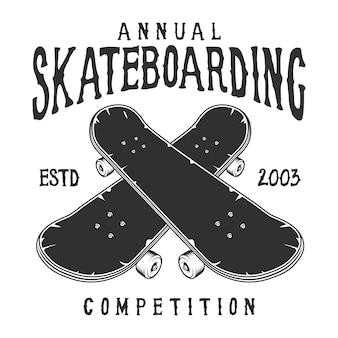 Etiqueta de skate vintage