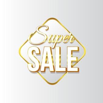 Etiqueta de super venda para ofertas e venda online