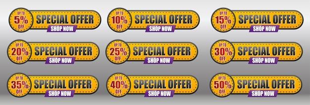 Etiqueta de venda até 550 de desconto oferta especial compre agora