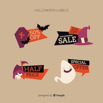 Etiqueta de venda de halloween collectio