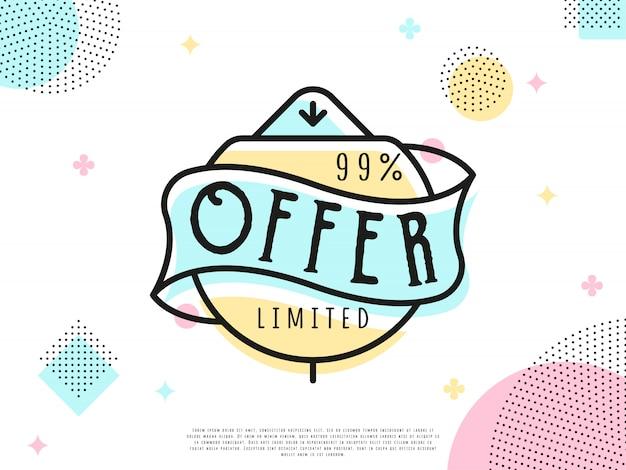 Etiqueta de venda de oferta especial