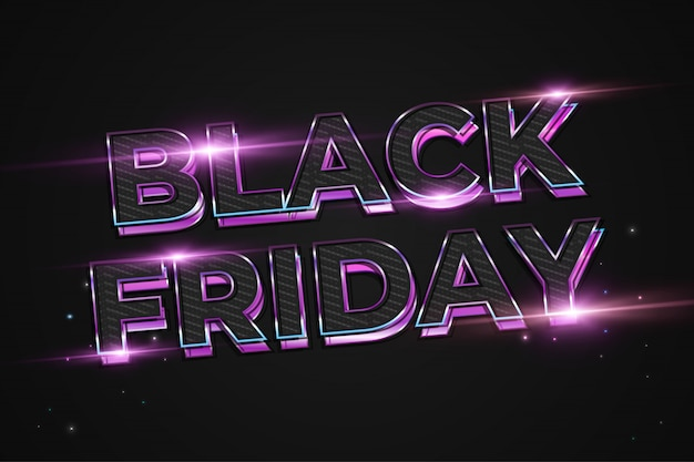Etiqueta de venda de sexta-feira negra com texto vibrante colorido
