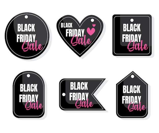 Etiqueta de vendas da black friday. design de sexta-feira negra, venda, desconto, publicidade, etiqueta de preço de marketing.