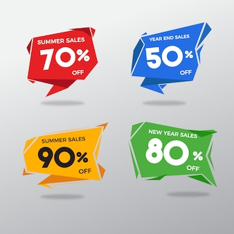 Etiqueta de vendas multicoloridas