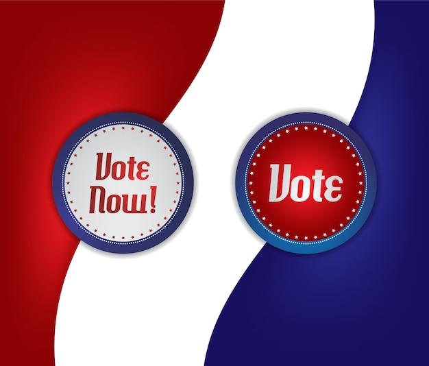Etiqueta de voto e eleição