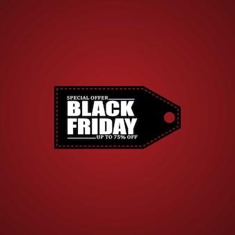 Etiqueta do adesivo promocional do logotipo da black friday com desconto