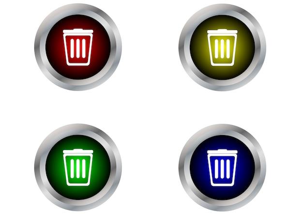 Etiqueta do botão bin isolada