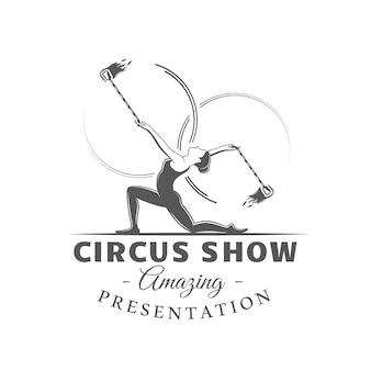 Etiqueta do circo isolada no fundo branco
