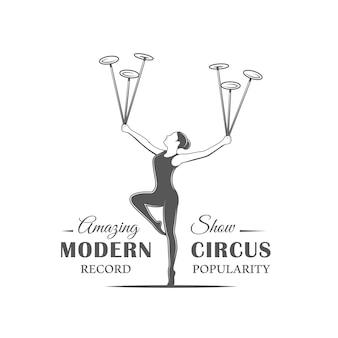 Etiqueta do circo isolada