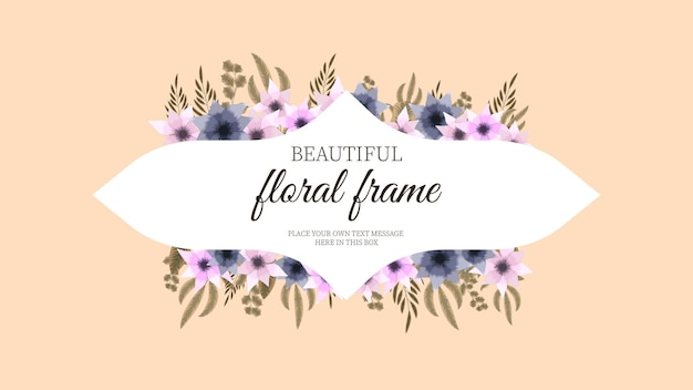 Etiqueta do dia da mulher com moldura floral luxuosa fundo etiqueta vintage