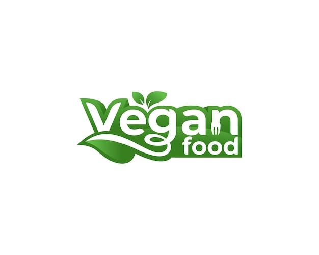 Etiqueta do logotipo de comida vegana
