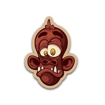 Etiqueta do macaco da ninhada