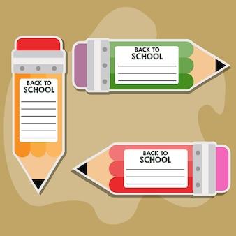 Etiqueta do tag do lápis