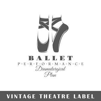 Etiqueta do teatro isolada no fundo branco