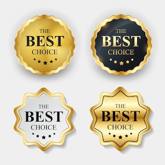 Etiqueta dourada - o modelo de melhor escolha