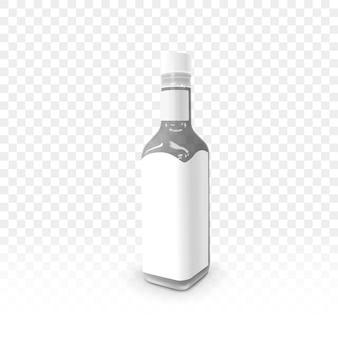 Etiqueta em branco do frasco de molho