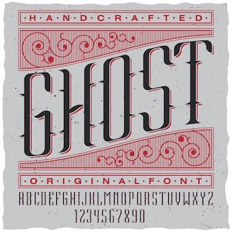Etiqueta fantasma artesanal