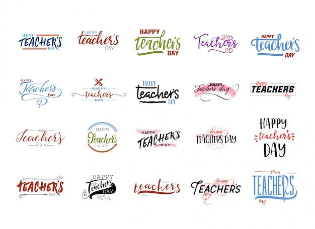 Etiqueta feliz do dia dos professores