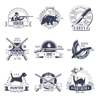 Etiqueta hunting vintage style