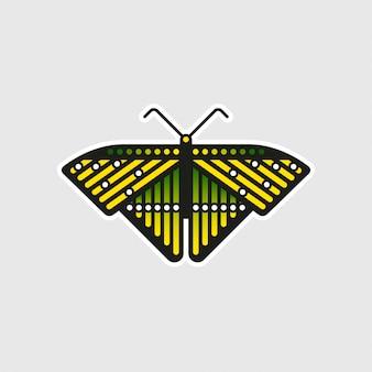 Etiqueta incomum da borboleta