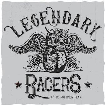 Etiqueta legendary racers