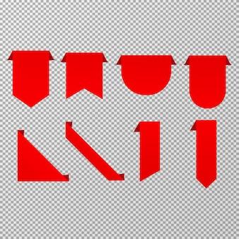 Etiqueta moderna definida no vetor de fundo transparente