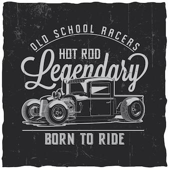 Etiqueta old school racers