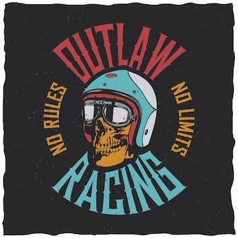 Etiqueta outlaw racing