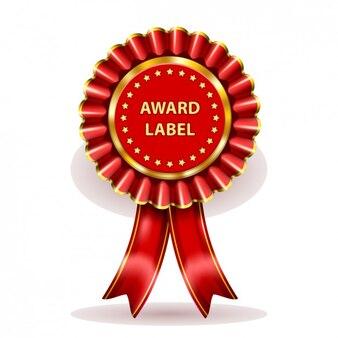 Etiqueta prêmio red