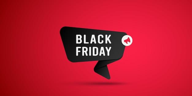 Etiqueta preta de venda de sexta-feira negra.