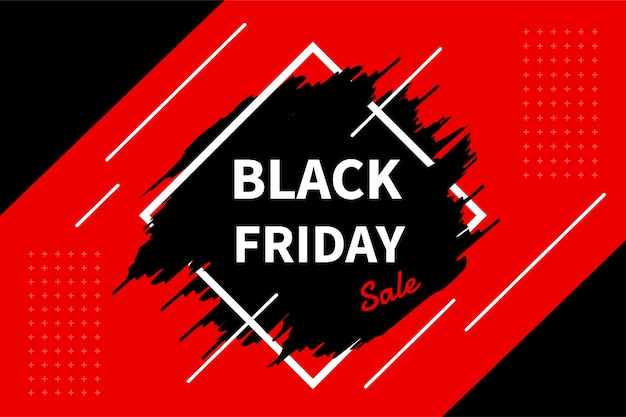 Etiqueta promocional com a venda de um produto durante a temporada blackfriday.