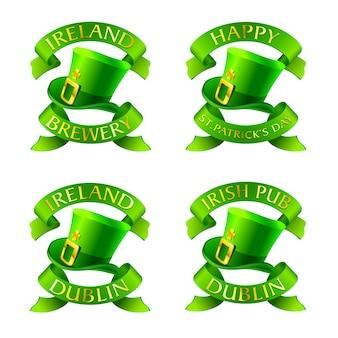 Etiqueta taditional irlandesa para o dia de st'patrick.