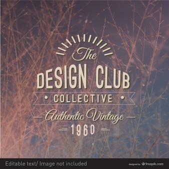 Etiqueta tipografia projeto do vintage