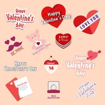 Etiqueta valentine set