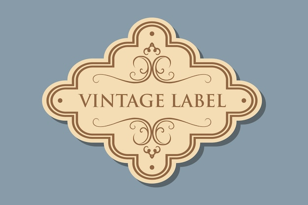 Etiqueta vintage