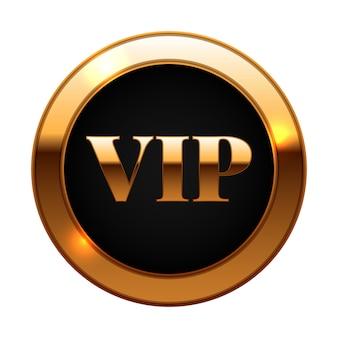 Etiqueta vip ouro e preto