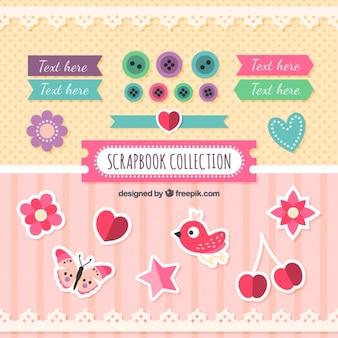 Etiquetas bonitos e coisas decorativos para scrapbooking
