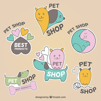 Etiquetas bonitos para pet shop