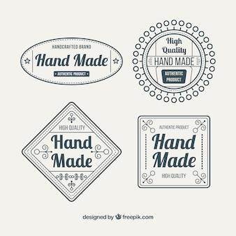 Etiquetas cerca de artesanato