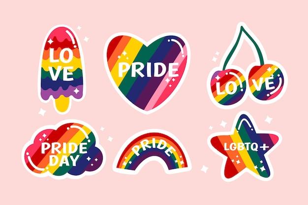 Etiquetas com tema do evento do dia do orgulho