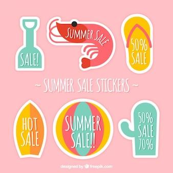 Etiquetas da venda agradável de verão